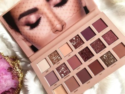Тени для века Huda Beauty New Nude Palette | Review & Look