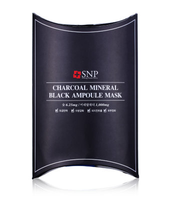 МаскаSNP Charcoal Mineral Black Ampoule Mask