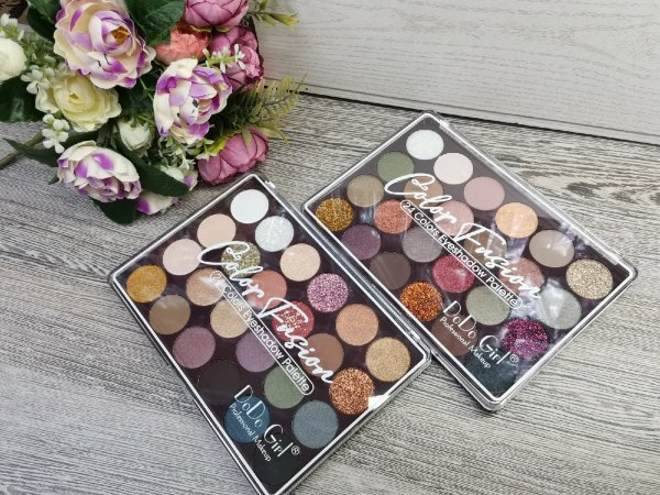 "​Тени от ""Dodo Girl"" Color Fusion 24 color Eyeshadow Palette, Ряд 2 шт"